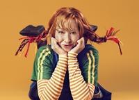 Pippi Langkous - (c) Stephanie Pistel - foto oranje achtergrond200x144